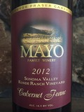 2012 Cabernet Franc, Kunde Ranch Vineyard, Sonoma Valley,